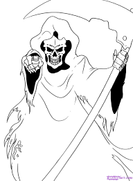 grim reaper coloring pages printable pictures 12410