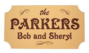 personalized family name plaque laser engraved