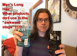 wavy long hair awkward stage men men s long hair products to use in the growing stages youtube
