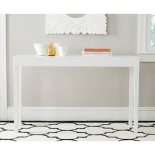 Overstock Sofa Table by Safavieh Kayson White Lacquer Console Table Fox4204a Consoles
