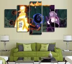 5 panel modern painting and prints anime naruto japanese picture