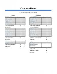 Pro Forma Financial Statements Excel Template Pro Forma Balance Sheet Template Dumbing It