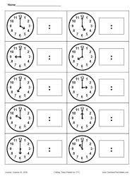 9 best clocks images on pinterest clock worksheets and