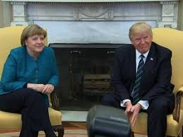 Gold Curtains In The Oval Office Trump And Merkel Meet In The Oval Office Youtube