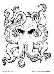 Octopus Tattoo Ideas Black Octopus Tattoo Design Octøpusiñspirãtiøñ Pinterest