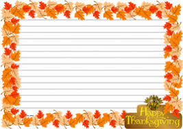 thanksgiving day themed lined paper and pageborder by jinkydabon