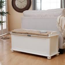 Benches Bedroom Bedroom 2017 Morgan Traditional Flip Top Storage Bench Vanilla