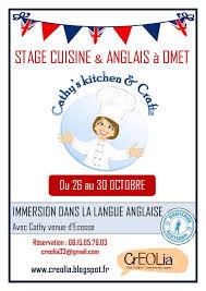 stage de cuisine stage de cuisine et anglais creolia