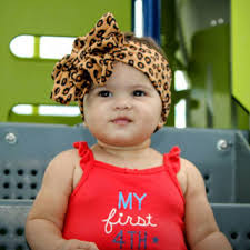 baby bow headbands shop cheetah headband on wanelo
