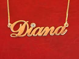 name necklace diana name necklace with name necklace