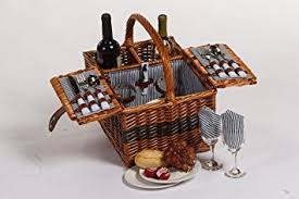 wine picnic baskets picnic largo basket with 2 person picnic set cutlery