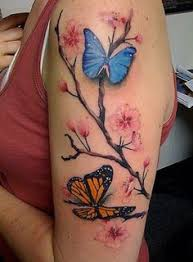 blue monarch butterfly collaboration tattoos