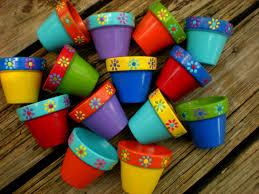 painted flower pots small flower pots kids events
