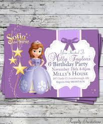 sofia the birthday sofia the birthday party invitation kids birthday princess