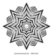 vector abstract circle mandala style stock vector 448096321
