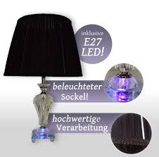 nachttischlampe tischleuchte schirm led kristall leselampe