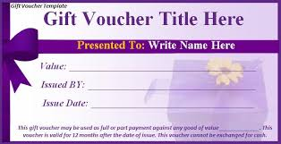 voucher templates free