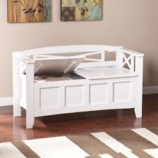 making easy white entryway storage bench