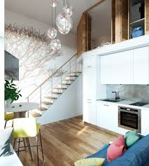 small house with loft decorations rustic small country house