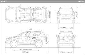 dimensions of toyota rav4 toyota rav4 interior dimensions