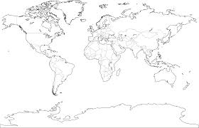 Thirteen Colonies Blank Map by Blank Map Of The World With Countries To Label