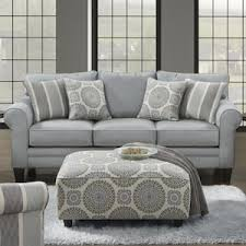 sofa and ottoman set in grande mist and pale blue nebraska