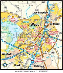 map waco waco area map stock vector 146089997