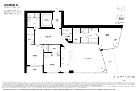 1 Bedroom Condo Floor Plans by Biscayne Beach Condo Floor Plans Biscayne Beach Luxury Condos