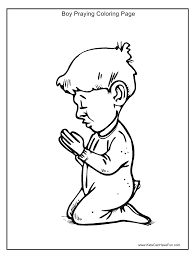 coloring page of boy praying high quality coloring pages