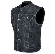 motorcycle vest speed and strength men u0027s soul shaker black denim vest 212 494