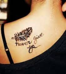 for a quotes small feather tattoos with quotes best