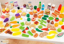 set cuisine enfant set d aliments pour cuisine pour enfants x115 kidkraft