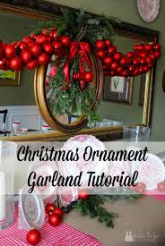 tutorial how to make a ornament garland