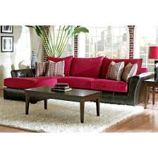 Klaussner Sectionals Klaussner Cordova Sectional Sofa In Cinnabar Microsuede For