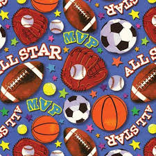 sports wrapping paper gift wrap 5 x30 all sports design birthday