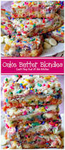 halloween cake mix cake batter blondies start with a boxed cake mix sprinkles and