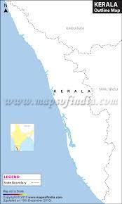 kerala outline map blank map of kerala