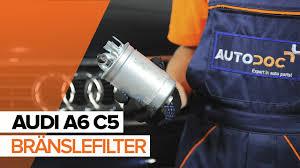 så byter du bränslefilter på audi a6 c5 guide youtube