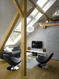 Small Swivel Chairs Living Room Design Ideas Charming Contemporary Attic Interior Living Room Design With