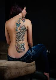 19 best grey ink tribal and mechanical tattoo on back body images