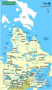 Map Of Quebec Canada by