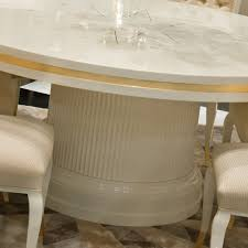 High End Dining Room Furniture by High End Modern Ivory Lacquered Round Dining Table Set Juliettes