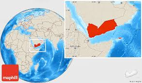 where is yemen on the map shaded relief location map of yemen