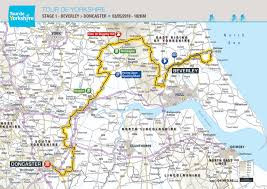 Yorkshire Map Stage 1 Tour De Yorkshire 2018 Beverley To Doncaster