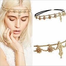 headband online online shop pearl tassel flower stretch gold headband hair band