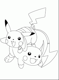 marvelous electric pokemon coloring pages with pikachu coloring