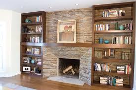 built in bookshelves around fireplace home design ideas