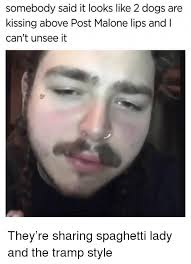 Meme Moustache - somebody said it looks like 2 dogs are kissing above post malone