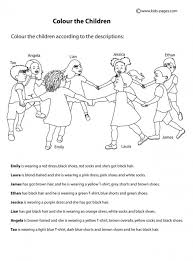 clothes colours 2 worksheet