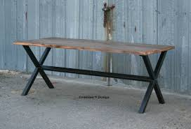 Industrial Bistro Table Buy A Custom Rustic Reclaimed Wood Dining Table Minimalist Urban